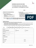 Registration Form i-trec 2020