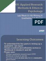 Writing A Qualitative Lab Report