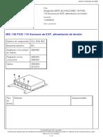 MID 136 PSID 119 Sensores de ESP, alimentación de tensión