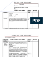 FORMATO DE PLANIFICACION DIARIA YOLLCALLI 2010-2011
