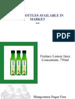 Market Juice bottles