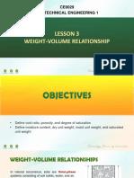 Module 3 - Weight-Volume Relationship