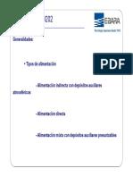 Tipos de alimentación UNE 149202 - EBARA