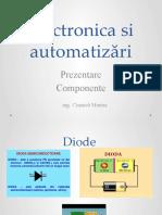 Specializarea Electronica si automatizări ppt