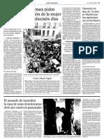 Manifestació per reclamar l'alliberament de Maria Àngels Feliu