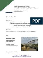 Calcul-des-structures-hyperstatiques-Cours-et-exercices-corrigés