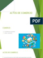 ACTOS DE COMERCIO  grupo 1