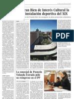 Declaran Bien de Interés Cultural la única instalación deportiva del XIX (El País - 28/01/2011)