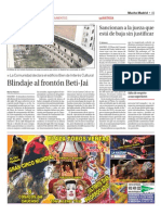 Blindaje al frontón Beti-Jai (La Razón - 28/01/2011)