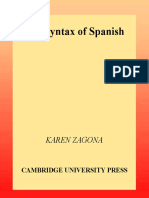 The Syntax of Spanish_Karen Zagona