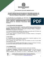 Edital nº 005.2019 - Seleção Simplificada de Bolsistas PRONATEC - Professor formador