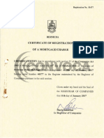 SELLADO Certificate of Registration of Mortage Charge