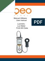 Instructiuni Luxmetru FLM 400