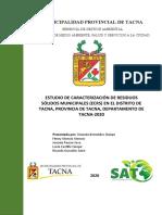 ESTUDIO DE CARACTERIZACIÓN DE RESIDUOS SÓLIDOS MUNICIPALES-TACNA