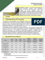 ESPECIFICACION TECNICA LANA DE VIDRIO