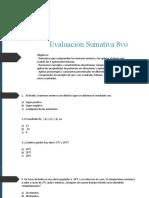 Evaluacion sumativa 8vo