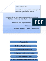 Presentación José Miguel Cortázar foro Asovac