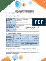 Guía de actividades y rúbrica de evaluación - Fase 1. Reconocer los contenidos del curso