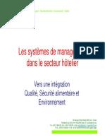 Les systèmes intégrés de management