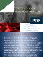 NANO TECHNOLOGY A HALE FOR HUMAN HEALTH