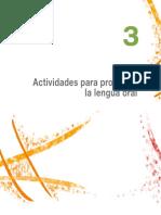 17. Lectura 3. Actividades para promover la lengua oral