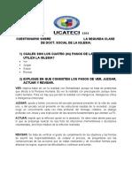 CUESTIONARIO SOBRE LA SEGUNDA CLASE DE DOCT. SOCIAL DE LA IGLESIA