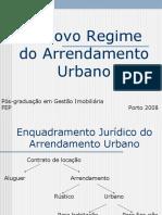O Novo Regime do Arrendamento Urbano