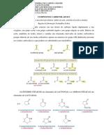 Resumo das reações dos compostos carbonilados