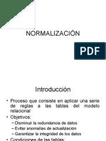 4.5 NORMALIZACION
