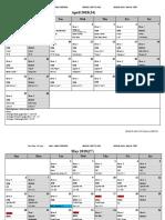 sample bar schedule