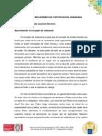 Soberania y mecanismos de participación ciudadana