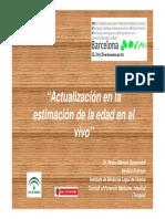GARAMENDI- Actualización en la estimación de la edad Barcelona Nov 2011