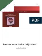 Encuentra aquí información de Los tres rezos diarios del judaísmo para tu escuela ¡Entra ya! | Rincón del Vago