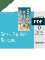 CURSO UNISOCIETAT de Nutrición. Tema 4. Etiquetado