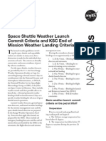 NASA Facts Space Shuttle Weather Launch Commit Criteria and KSC End of Mission Weather Landing Criteria 2008