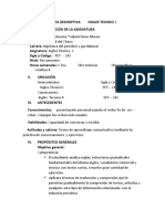 CARTA DESCRIPTIVA    PETROLEO     INGLES TECNICO  I