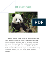 A giant panda is a bear native to central western and south western of China
