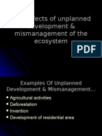 THE EFFECTS OF UNPLANNED DEVELOPMENT