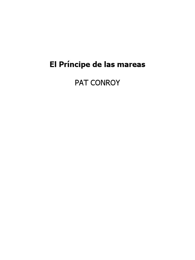 Conroy Pat - El Principe De Las Mareas  doc  3965bb9766f
