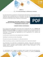 Anexo 1 - Tarea 2 - El rol del psicólogo en diferentes contextos