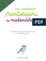 Cuaderno Matemático Montessori