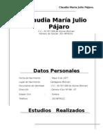 Claudia María Julio Pájaro.