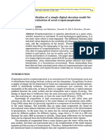 Application of a Simple Digital Elevation Model - 1994