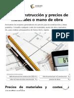 Costes construcción y precios para obras - Bancos de precios