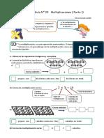 Guía N° 20 Multiplicaciones ( 1° Parte )
