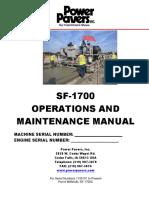 Operations & Maintenance Manual - SF-1700 (ENG)