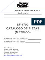 Parts Manual - SF-1700 (SP - Metric)