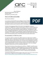 UARC letter