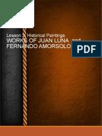 Works of Juan Luna and Fernando Amorsolo