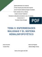 SEM. 18 TEMA 5 ENFERMEDADES MALIGNA Y DEL SIST. HEMALINFOPOYÉTICO PEDIATRIA III